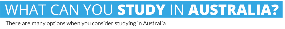 what you can study in australia